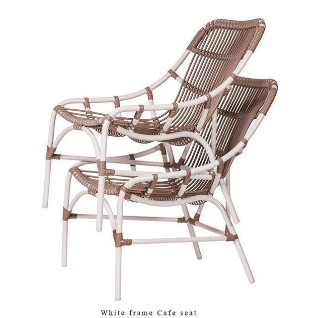 Metal Coronado Stackable Lounge, Café - White For Sale - Image 7 of 9