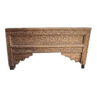 Antique Carved Teak Bench For Sale