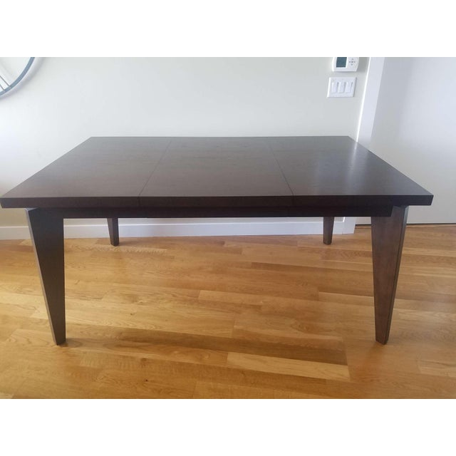 Modern West Elm Anderson Solid Wood Expandable Table For Sale - Image 3 of 4