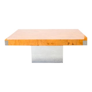 Milo Baughman Maple Burl Veneer Coffee Table