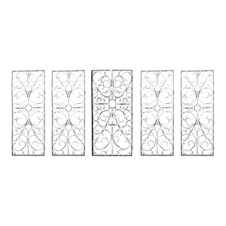American Victorian Iron Scroll Gates - Set of 5 For Sale
