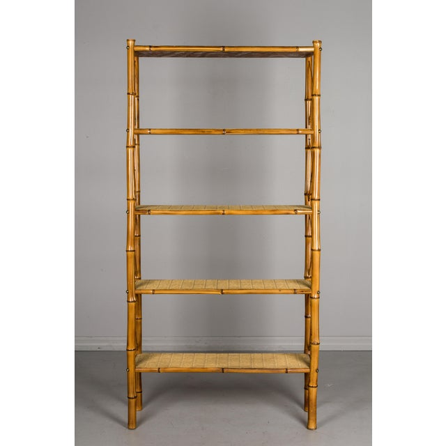 French Mid-Century French Bamboo & Rattan Etagere For Sale - Image 3 of 11