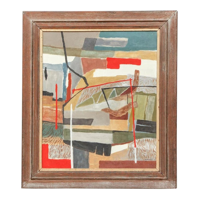 1940's Oil on Board Painting by N. Rosfeld, Framed For Sale