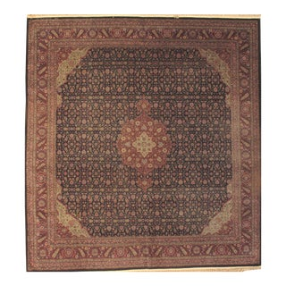 "Pasargad NY Antique Turkish Sivas Hand Knotted Rug - 8'9"" X 9'7"" For Sale"