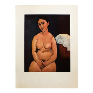 1950s Amedeo Modigliani, Seated Nude Original Lithograph For Sale