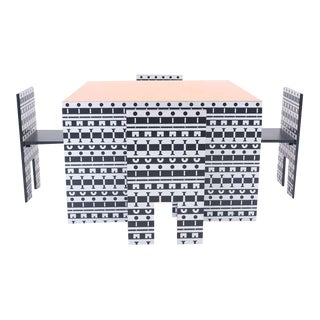 Italian Alessandro Mendini and Alessandro Guerriero Table and Chairs - 5 Pieces For Sale