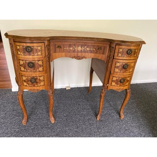 Vintage French Ladies Writing Desk or Vanity With Inlaid Detail Preview