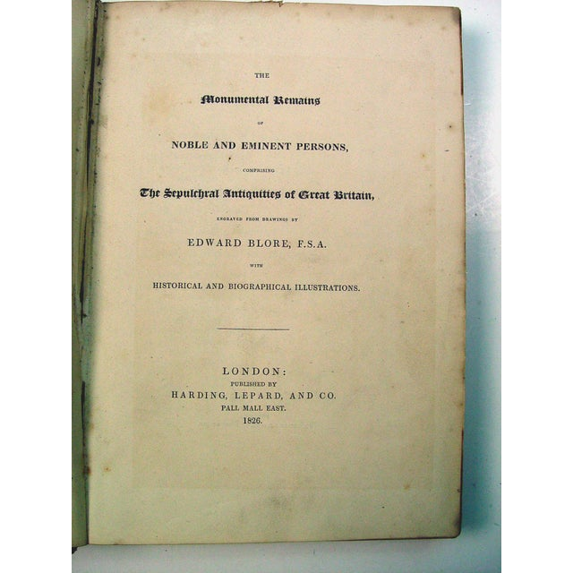 Monuments & Sepulchres of England Book, 1826 - Image 5 of 10