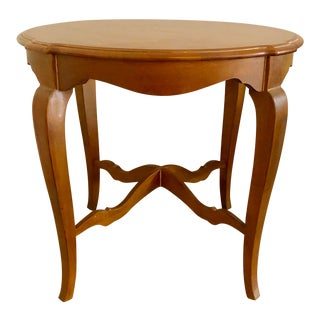 1980s Vintage Ethan Allen French Country Style High Leg Table For Sale