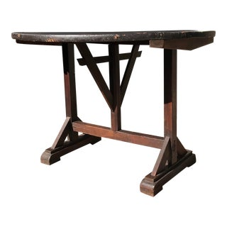 Early 20th Century Antique Tilt Top Table For Sale