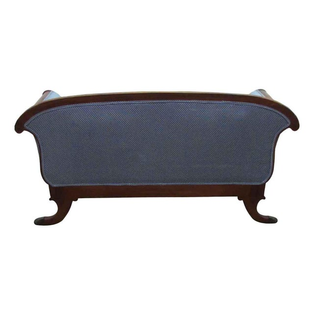 Upholstered Claw Foot Sofa For Sale - Image 4 of 10