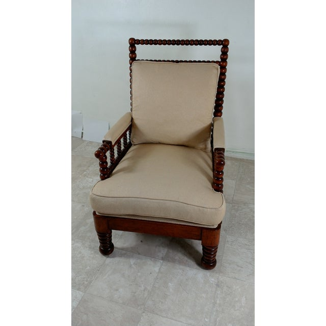 Contemporary 1980s Robert Scott Walnut Accent Chair For Sale - Image 3 of 11
