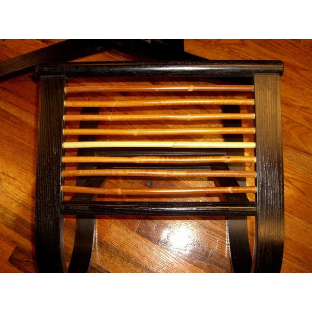 David Colwell David Colwell Trannon C1 Reclining Lounge Chair and Ottoman Rattan For Sale - Image 4 of 10