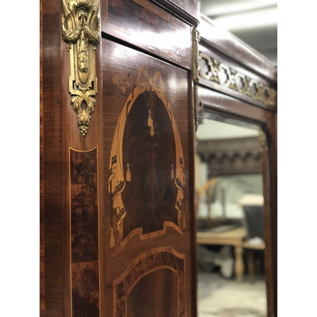 Bronze 19th Century French Neoclassical Mirrored Armoire For Sale - Image 7 of 13