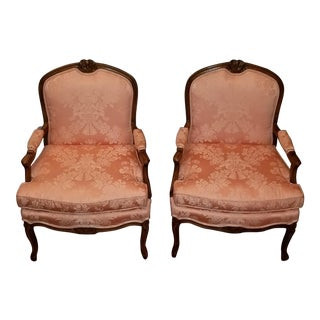 Erwin-Lambeth French Bergere Chairs - a Pair For Sale