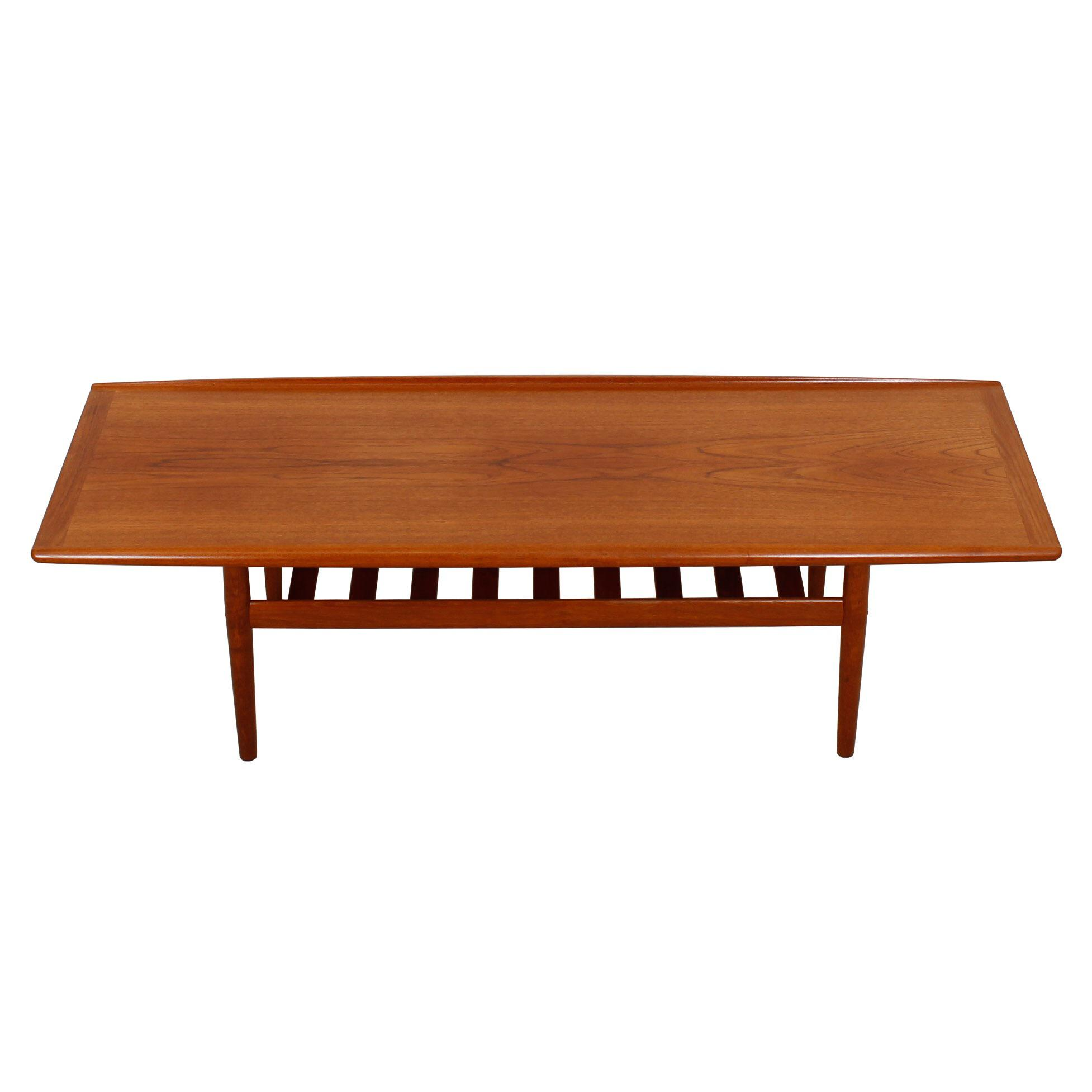 Grete Jalk Danish Teak Surfboard Coffee Table