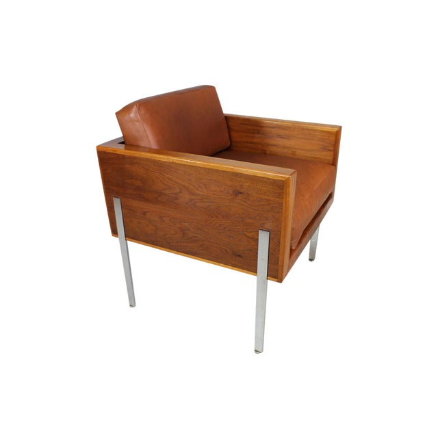 """Harvey Probber Architectural Series """"Cube"""" Chair For Sale"""