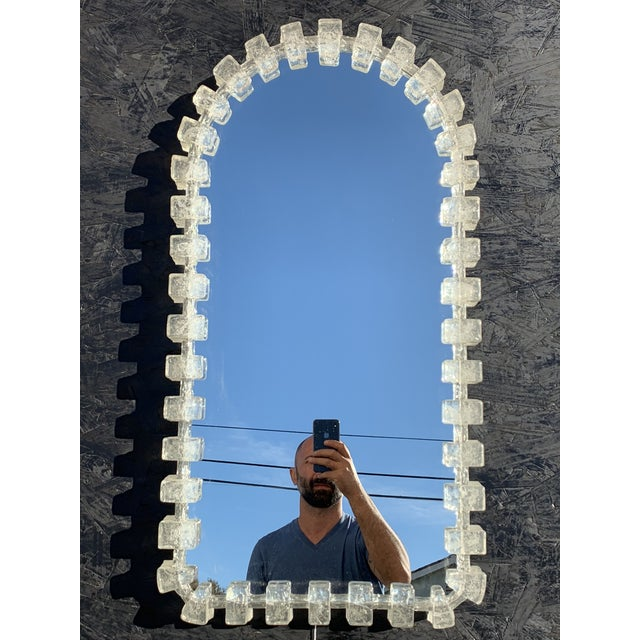 Illuminated Acrylic Resin Mirror For Sale - Image 12 of 12
