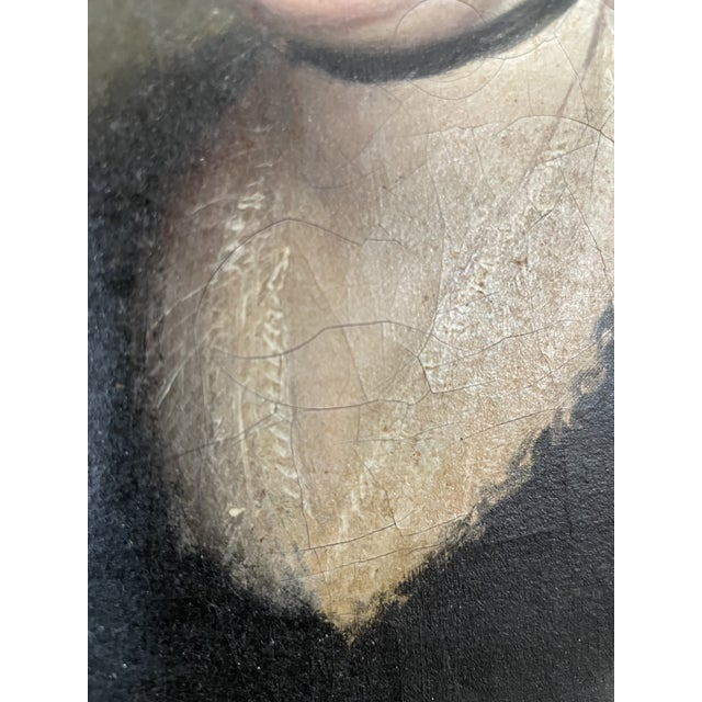 Late 18th Century English Portrait of a Lady Oil Painting Attributed to John Russell, Framed For Sale In Minneapolis - Image 6 of 13
