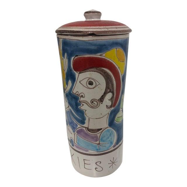 Vintage DeSimone Pottery Jar For Sale