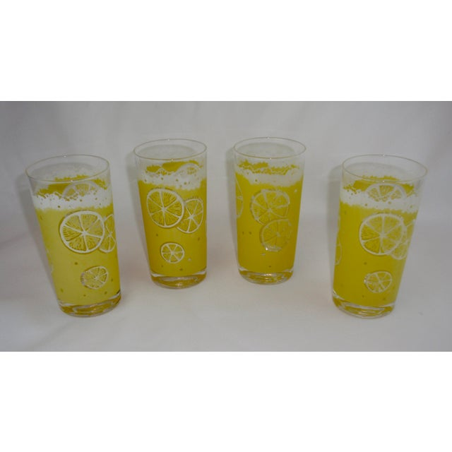 For your next BBQ or summer gathering - enjoy these mid century tall hi ball glasses for lemonade or your favorite adult...