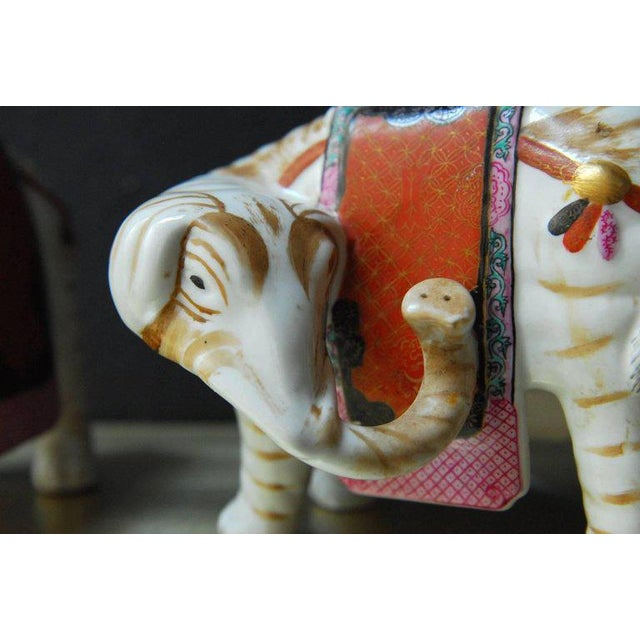 Ceramic Mottahedeh Porcelain Elephant Candleholders - Set of 4 For Sale - Image 7 of 11
