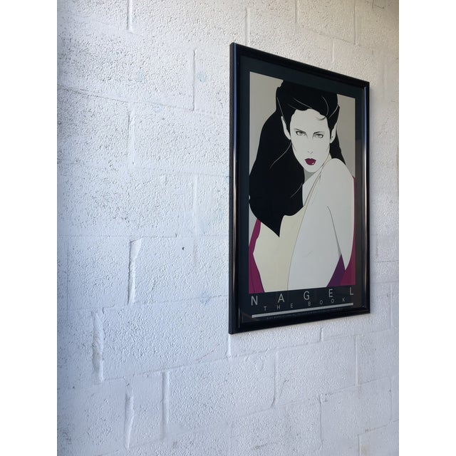 1980s Vintage 1980s Patrick Nagel the Book Framed Lithograph Poster For Sale - Image 5 of 12