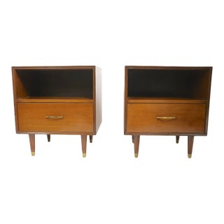 Pr. Mid Century Nightstands After McCobb For Sale
