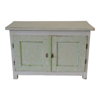 Country Painted Pine Water Cupboard For Sale