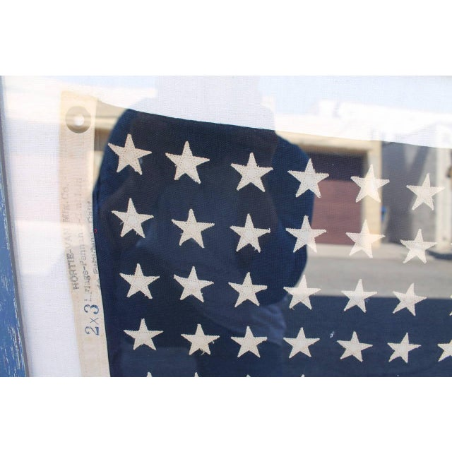 Early 20th Century 48 Star Ships Framed Flag - Image 1 of 4