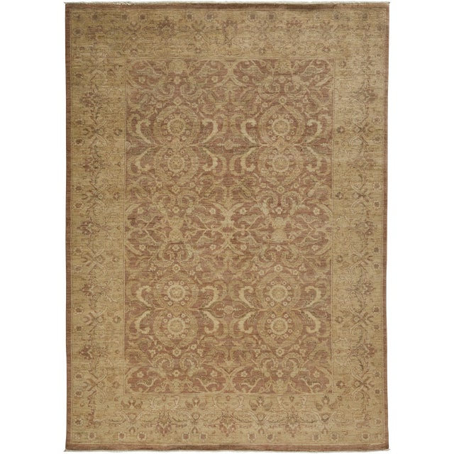 """New Oushak Hand Knotted Area Rug - 6'2"""" X 8'5"""" For Sale"""