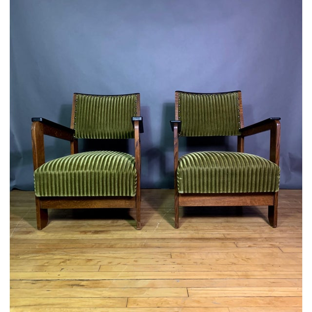 An interesting pair of armchairs from the 1940s, found in Sweden though not necessarily of Scandinavian origin - probably...