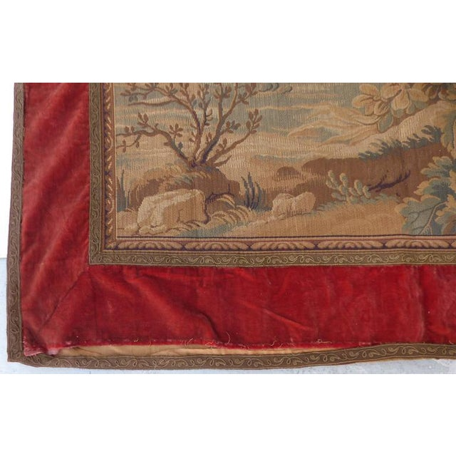 Cotton Tapestry Wall Hanging, circa 1920s from a Historic South Florida Home For Sale - Image 7 of 11
