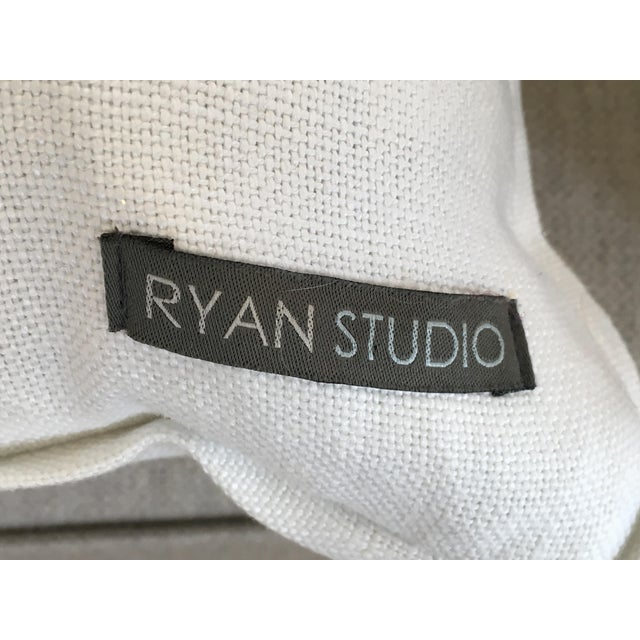 Ryan Studio Greek Key Design Pillows - A Pair - Image 2 of 4