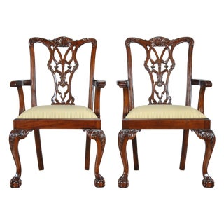 Fenton Mahogany Arm Chair - a Pair For Sale