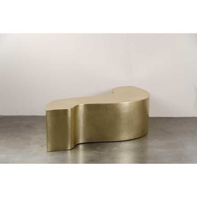 Contemporary Dragon Bench - Brass by Robert Kuo, Hand Repousse, Limited Edition For Sale - Image 3 of 6