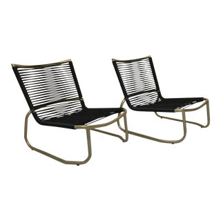 Tropitone Sand Chairs with Yacht Cording - A Pair