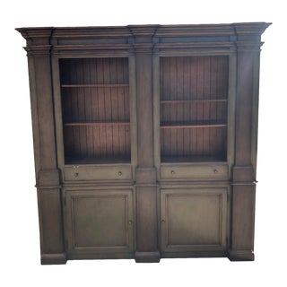 Large Green and Gold Accent Display Cabinet by South Cone For Sale