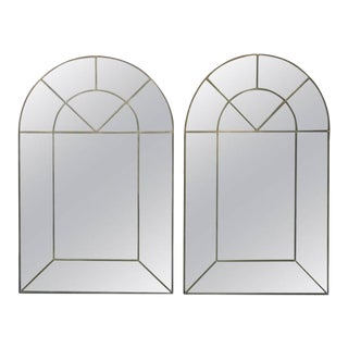 Pair of Exceptional Arched Mirrors by Carol Canner for Carvers Guild For Sale
