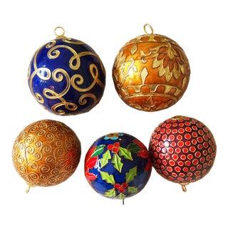 Cloisonné Christmas Tree Ornaments - Set of 5