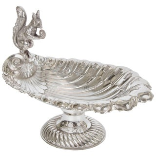 Silver Plate Squirrel Serving Dish C.1890 For Sale
