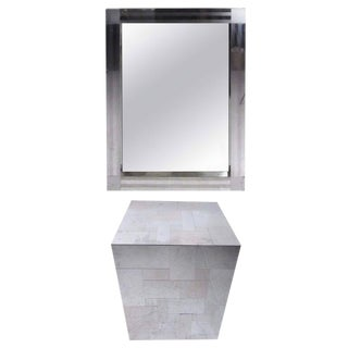 Paul Evans Patchwork Console Table & Wall Mirror - A Pair
