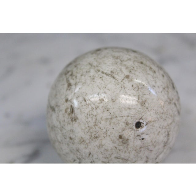 Traditional Victorian White Carpet Ball For Sale - Image 3 of 4