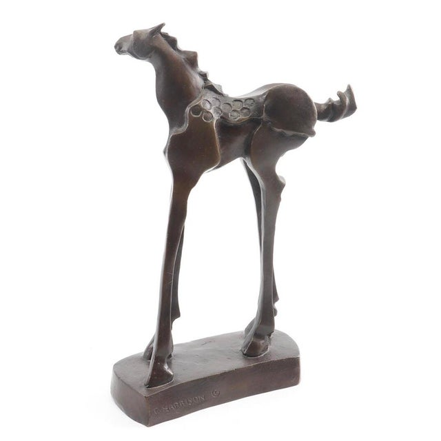 Vintage Mid-Century Bronze Abstracted Surrealist Inspired Horse Sculpture For Sale - Image 4 of 9