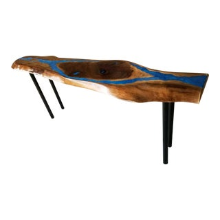 Handcrafted Original New Live Edge Console Table