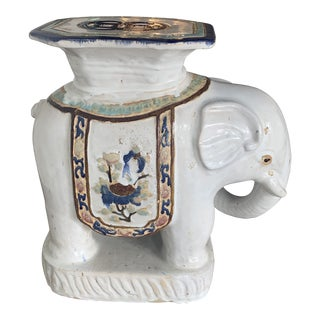 Blue and White Ceramic Garden Stool For Sale