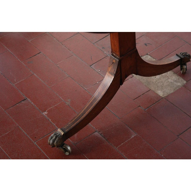 Antique Victorian Rosewood Writer's Desk For Sale - Image 12 of 13