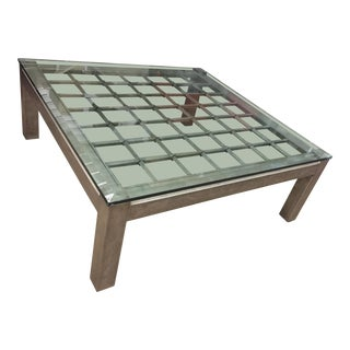 Kreiss Iron and Glass Coffee Table For Sale