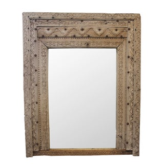 Old Carved Doorway Mirror For Sale