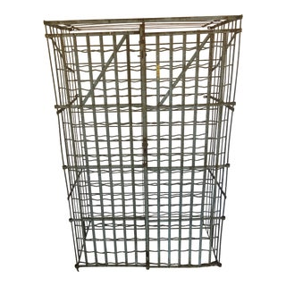1930's Wrought Iron and Steel Wine Rack